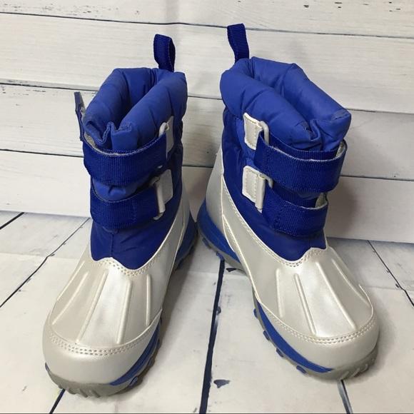 33baf453e669 L.L. Bean Other - LL Bean Kids  Snow Tread Boots Blue and Silver 11